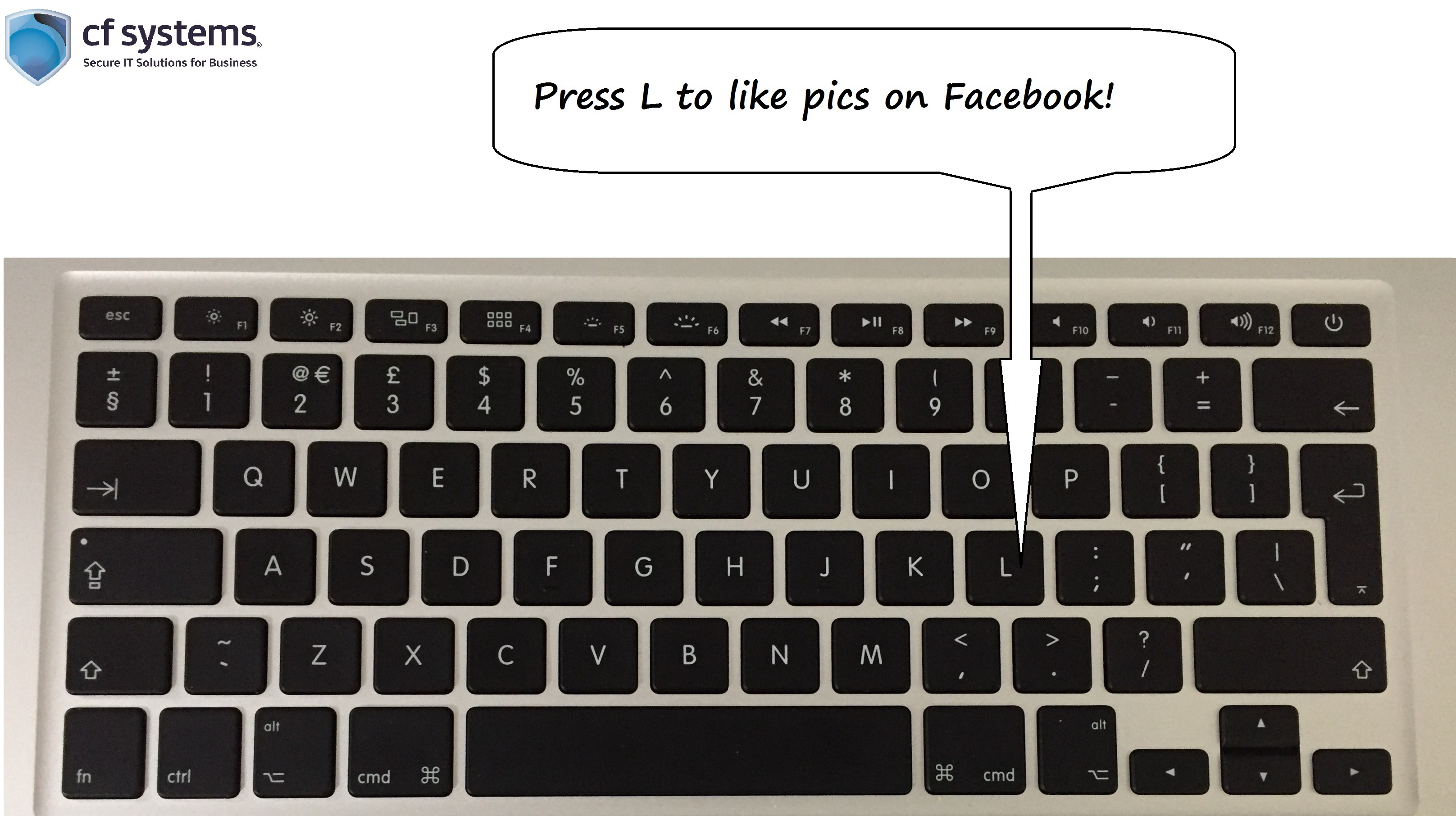 Facebook shortcuts! Like a pic by only using your keyboard.